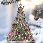 Raccoon lovely tree gift for animal lover gift for Raccoon lover ornament