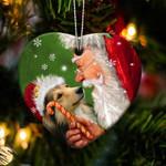 Sheltie happy heart gift for dog lover ornament