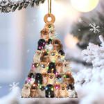 Pekingese lovely tree gift for pekingese lover gift for dog lover ornament