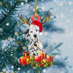 Dalmatian Christmas Lights Shape Ornament
