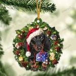 Black and Tan Dachshund and Christmas gift for her gift for him gift for Black and Tan Dachshund lover ornament