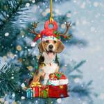 Beagle Christmas Light Shape Ornament / DKHPQH061220