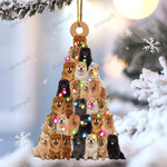 Chow chow lovely tree gift for chow chow gift for dog mom ornament