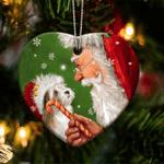 Havanese Christmas Lights Shape Ornament