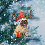 French Bulldog Christmas Lights Shape Ornament / DVHPQH061220