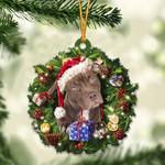 Pitbull and Christmas gift for her gift for him gift for Pitbull lover ornament
