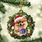 Gold Pomeranian and Christmas gift for her gift for him gift for Gold Pomeranian lover ornament