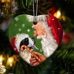 Saint Bernard Dog happy heart gift for dog lover ornament