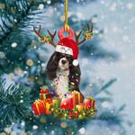 King Charles Spaniel Christmas Lights Shape Ornament