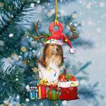 Shetland Sheepdog Christmas Lights Shape Ornament / DVHPQH081220