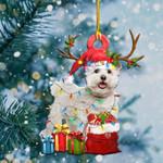 Bichon Frise Christmas Tree Shape Ornament / DVHPQH081220