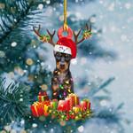 Doberman Christmas Lights Shape Ornament