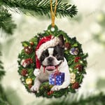 Boston Terrier and Christmas gift for her gift for him gift for Boston Terrier lover ornament