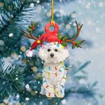 Bichon Frise Christmas Lights Shape Ornament / DVHPQH061220