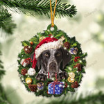 German Shorthaired Pointer and Christmas gift for her gift for him gift for German Shorthaired Pointer lover ornament