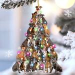 Pitbull lovely tree gift for pitbull lover gift for dog mom ornament