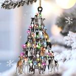 Greyhound lovely tree gift for greyhound lover gift for dog mom ornament
