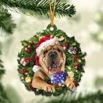 Shar Pei and Christmas gift for her gift for him gift for Shar Pei lover ornament