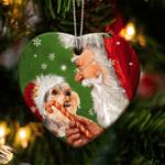 Yorkie Christmas Lights Shape Ornament