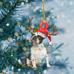 Boston Terriers Christmas Lights Shape Ornament / DVHPQH071220