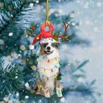 Australian Shepherd Light Christmas Shape Ornament / DVHPQH061220