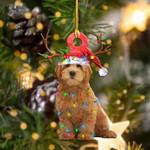 Goldendoodle Christmas Lights Shape Ornament / DVHPQH111220