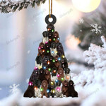 Newfoundland dog lovely tree gift for french newfoundland dog lover gift for dog lover ornament