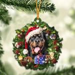 Rottweiler and Christmas gift for her gift for him gift for Rottweiler lover ornament