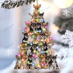 Chihuahua lovely tree gift for chihuahua lover gift for dog mom ornament