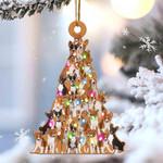 Basenji dog lovely tree gift for basenji lover gift for dog lover ornament