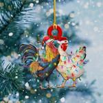 Chickens Light Christmas Shape Ornament / DVHPQH051220
