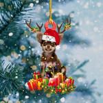 Chihuahua Christmas Lights Shape Ornament
