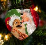 Fun Car Decor Pomeranian happy heart gift for Pomeranian lover gift for dog mom ornament