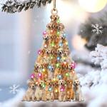 Golden retriever lovely tree gift for golden retriever lover gift for dog mom ornament