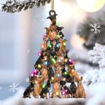 Miniature pinscher lovely tree gift for miniature pinscher lover gift for dog mom ornament