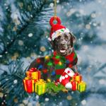 Black Labrador Light Christmas Shape Ornament / VMHLMH111220