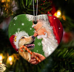 Fun Car Decor Golden retriever happy heart gift for golden retriever lover gift for dog mom ornament