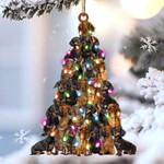Dachshund lovely tree gift for dachshund lover gift for dog mom ornament