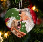 Fun Car Decor Wheaten happy heart gift for Wheaten lover gift for dog mom ornament