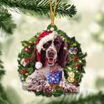 English Springer Spaniel and Christmas gift for her gift for him gift for English Springer Spaniel lover ornament