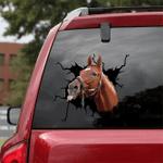 [sk1278-snf-tnt] Thoroughbred Horse Crack Sticker Cattle Lover