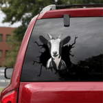 [TH0070-snf-tpa] Miniature Goat Crack car Sticker cattle Lover