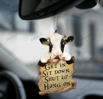 [DT0800-pw-ornm-tnt] Dairy cattle Ornament Decorate Car