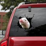 [sk1114-snf-ptd] Pig crack car Sticker Cattle lover