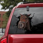 [sk1612-snf-tnt] Thoroughbred Horse Crack Sticker Cattle Lover