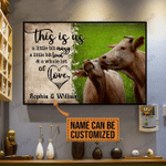 [HA0008-snf-lad] Dairy Cow poster customize cattle lover