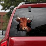 [DT0321-snf-tnt] Shorthorn Cattle Crack car Sticker cows Lover