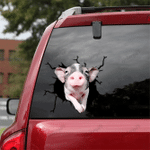 [sk1229-snf-tpa] Mini Spotted Pig Crack Sticker cattle Lover
