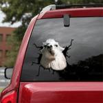 [sk1540-snf-tpa] Derpy Goat Crack Sticker Cattle Lover