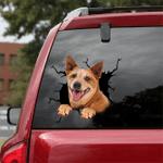 [DT0778-snf-tnt] Australian Cattle Dog Crack Car Sticker Dog Lovers